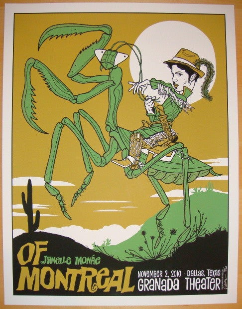 2010 Of Montreal - Silkscreen Concert Poster by Todd Slater