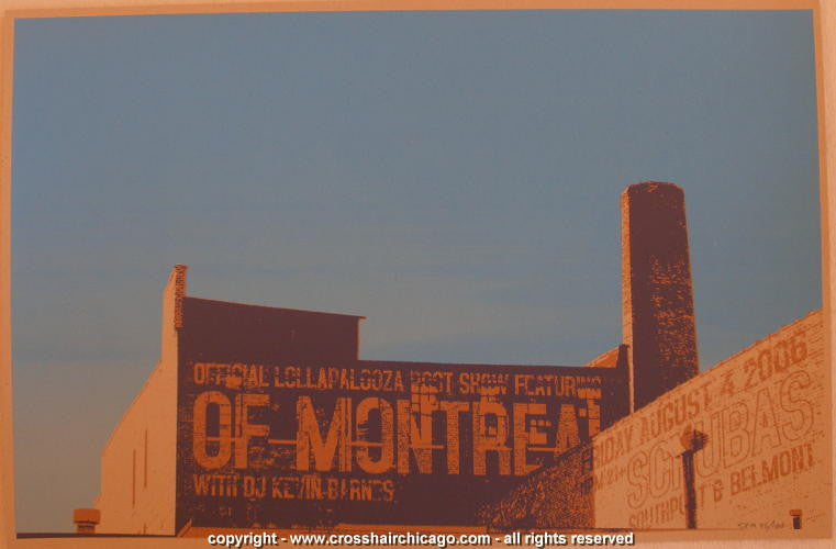 2006 Of Montreal Silkscreen Concert Poster by Crosshair