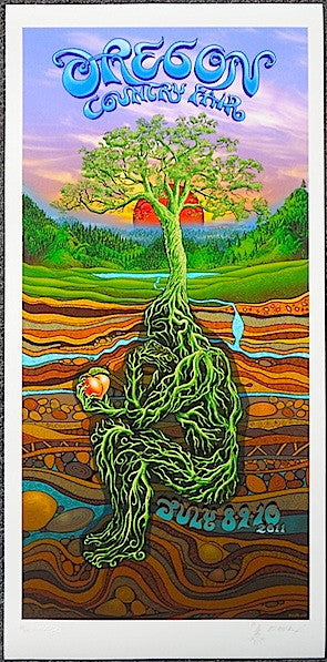2011 Oregon Country Fair - Giclee Event Poster by Emek