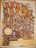 2010 Outside Lands Festival - Concert Poster by Guy Burwell