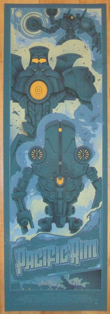 "2013 ""Pacific Rim"" - Silkscreen Movie Poster by Graham Erwin"