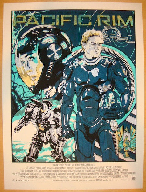 "2013 ""Pacific Rim"" - Silkscreen Movie Poster by New Flesh"