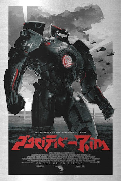 "2013 ""Pacific Rim"" - Metal Variant Movie Poster by Domaradzki"