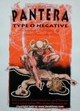 1995 Pantera w/ Type O Negative (95-04) Concert Poster by Hess