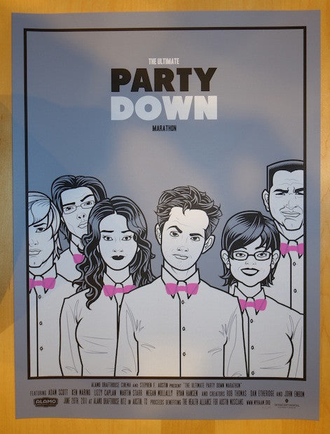 "2011 ""Party Down"" - Silkscreen Movie Poster by Scrojo"