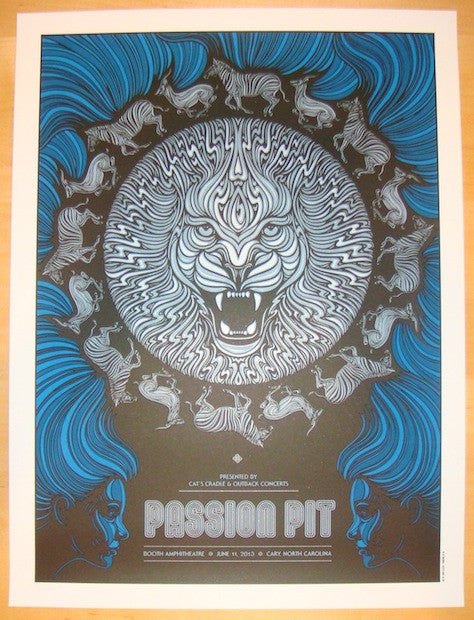 2013 Passion Pit - Cary Silkscreen Concert Poster by Todd Slater