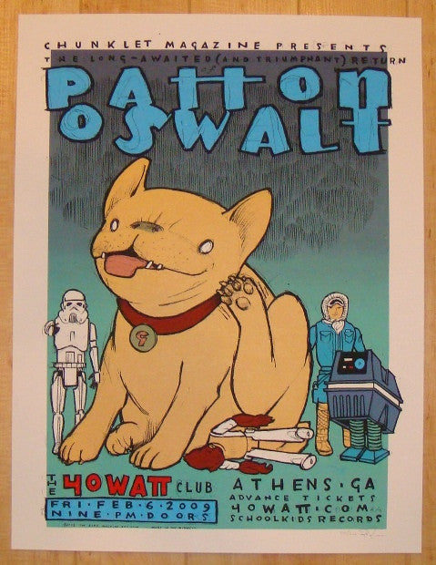 2009 Patton Oswalt - Athens Concert Poster by Jay Ryan
