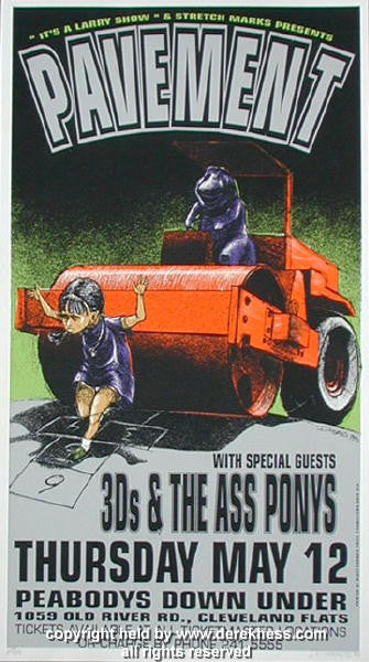 1994 Pavement w/ the 3D's (94-13) Concert Poster by Derek Hess