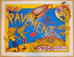 1994 Pavement - Cincinnati Silkscreen Concert Poster by Emek