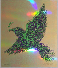 2011 Peace Bird - Left Facing Silkscreen Handbill by Emek