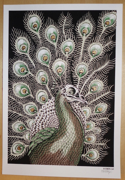 2005 Peacock -Green/Brown Silkscreen Handbill by Emek