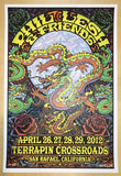 2012 Phil Lesh & Friends - San Rafael Silkscreen Concert Poster by Michael Everett