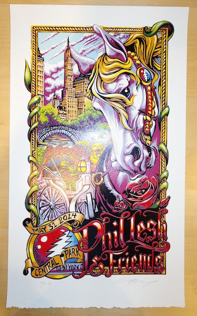 2014 Phil Lesh - NYC Linocut Concert Poster by AJ Masthay