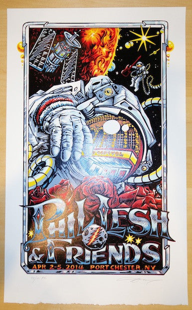 2014 Phil Lesh - Port Chester I Concert Poster by AJ Masthay