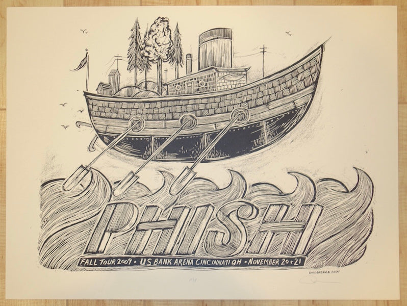 2009 Phish - Cincinnati Key Line Proof Silkscreen Concert Poster by Dan Grzeca