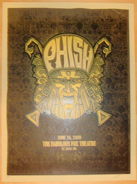 2009 Phish - St. Louis Silkscreen Concert Poster by Methane