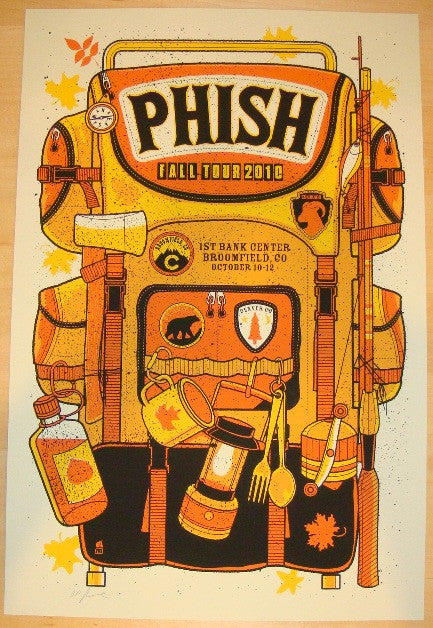 2010 Phish - Broomfield Silkscreen Concert Poster by Methane