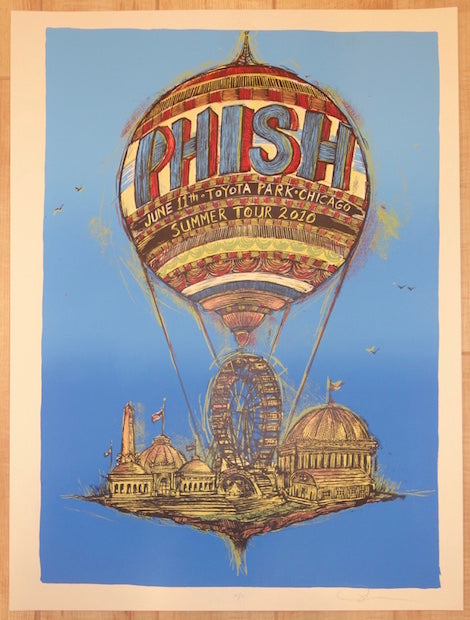 2010 Phish - Chicago Silkscreen Concert Poster by Dan Grzeca