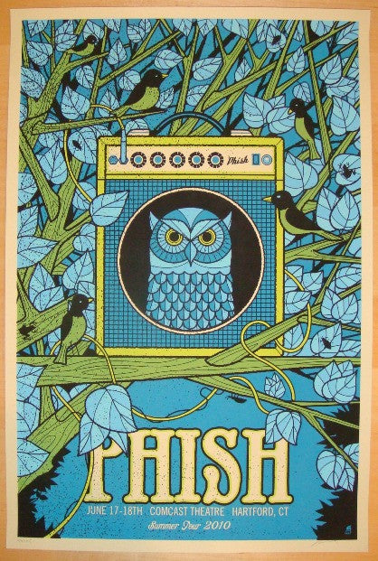 2010 Phish - Hartford II Silkcreen Concert Poster by Methane