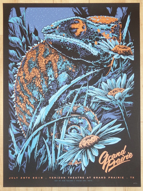 2015 Phish - Grand Prairie Silkscreen Concert Poster by Ken Taylor