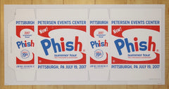 2017 Phish - Pittsburgh Silkscreen Concert Poster by Half and Half