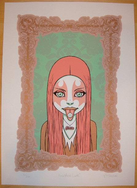 2006 Pink Metal Lover - Silkscreen Art Print by Tara McPherson