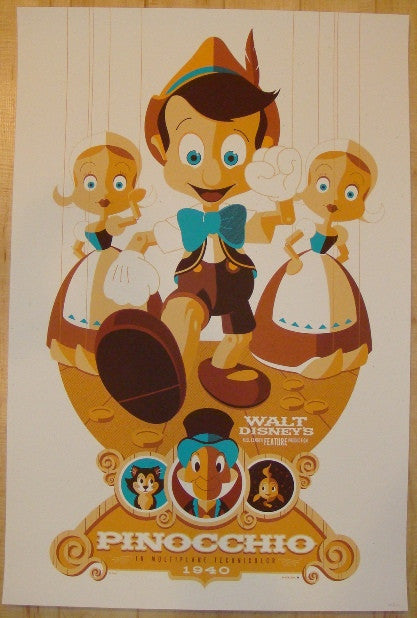 "2011 ""Pinocchio"" - Silkscreen Movie Poster by Tom Whalen"