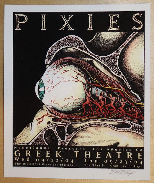 2004 Pixies - Los Angeles Silkscreen Handbill by Emek