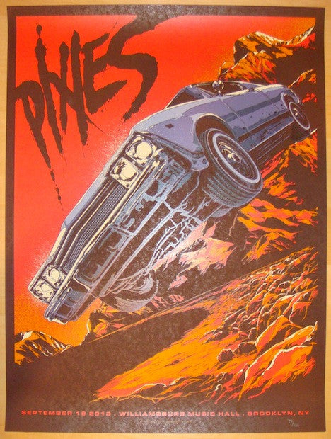 2013 The Pixies - Brooklyn Concert Poster by Ken Taylor