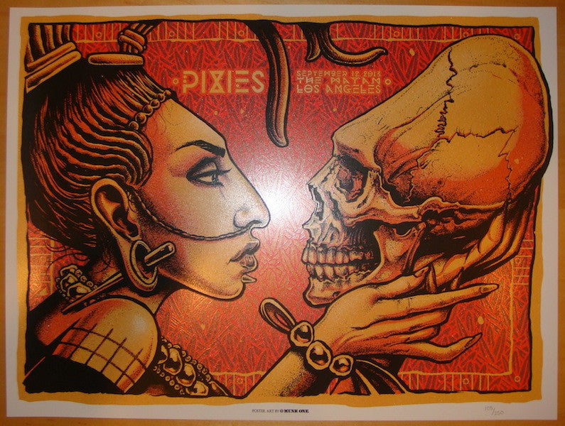 2013 The Pixies - LA IV Silkscreen Concert Poster by Munk One