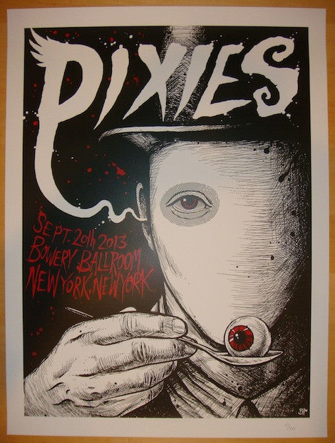 2013 The Pixies - NYC III Concert Poster by Brandon Heart