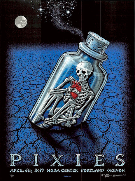 2019 The Pixies - Portland Silkscreen Concert Poster by Emek