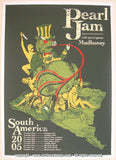 2005 Pearl Jam - South America Concert Poster by Brad Klausen