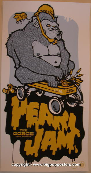2006 Pearl Jam - Gorge Silkscreen Concert Poster by Ames