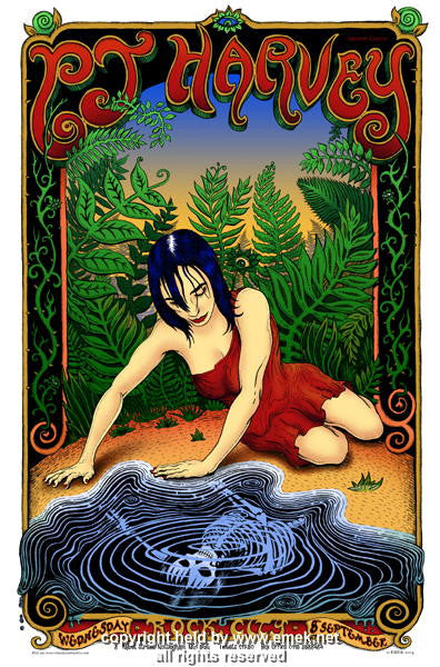 2004 PJ Harvey Silkscreen Concert Poster by Emek