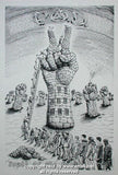 2002 P.O.D. - Youth of the Nation Black & White Poster by Emek