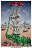 2002 P.O.D. - Youth of the Nation Tour Poster by Emek