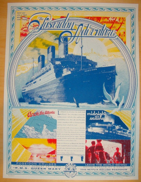 "2006 ""Poseidon Adventure"" - Silkscreen Movie Poster by Burlesque"