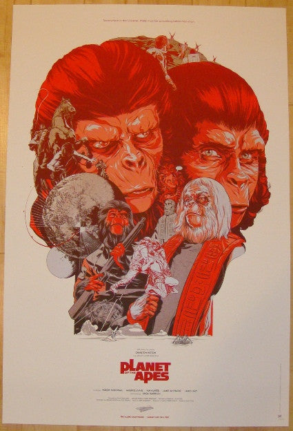 "2012 ""The Planet Of The Apes"" - Variant Poster by Martin Ansin"