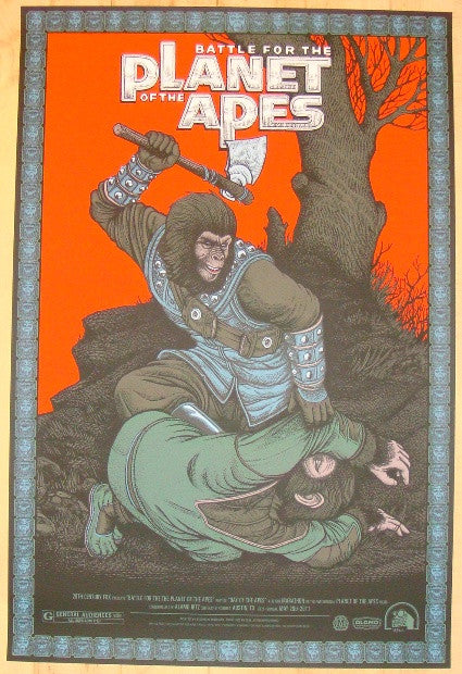"2012 ""Battle For The Planet Of The Apes"" - Poster by Bertmer"