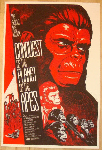 "2012 ""Conquest Of The Planet Of The Apes"" - Poster by Phantom"
