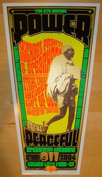 2004 Michael Franti & String Cheese Incident Poster by Sperry