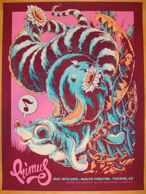2013 Primus - Tucson Silkscreen Concert Poster by Ken Taylor