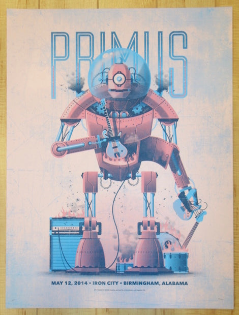 2014 Primus - Birmingham Pink Variant Silkscreen Concert Poster by DKNG