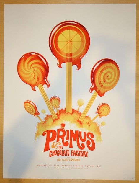 2014 Primus - Boston Silkscreen Concert Poster by Phantom City Creative