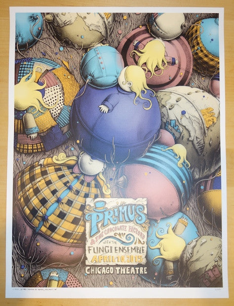 2015 Primus - Chicago Silkscreen Concert Poster by PEZ