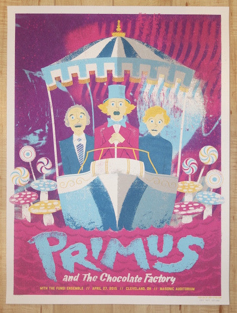 2015 Primus - Cleveland Silkscreen Concert Poster by Doe-Eyed Design