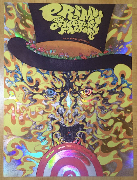 2015 Primus - Kansas City Holographic Foil Concert Poster by James Flames