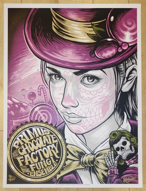 2015 Primus - Montreal Silkscreen Concert Poster by Maxx242