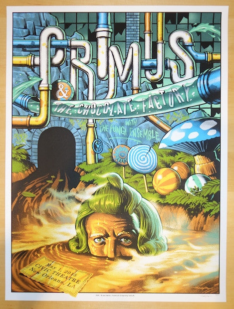 2015 Primus - New Orleans I Silkscreen Concert Poster by Jason Edmiston